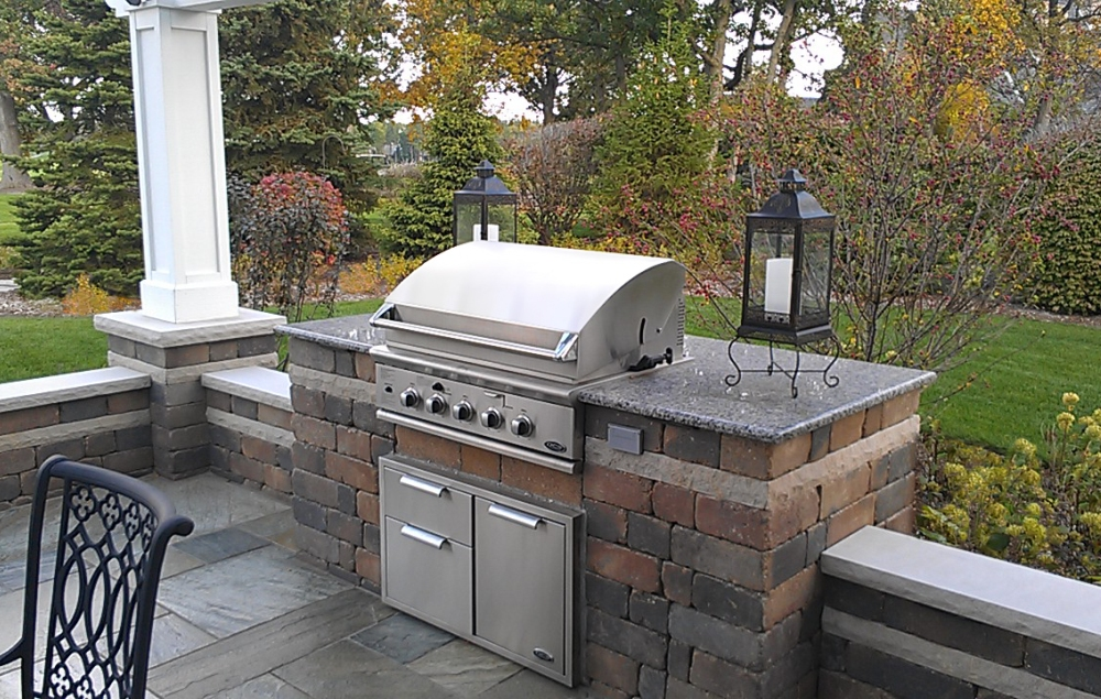 Cook Stations Amp Outdoor Kitchens Poul S Landscaping